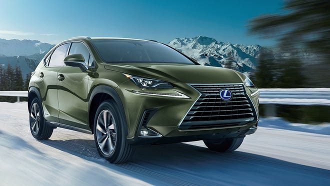 The 2021 Lexus NX 300h has an excellent city/highway/combined EPA rating of 33/30/31 miles to the gallon.
