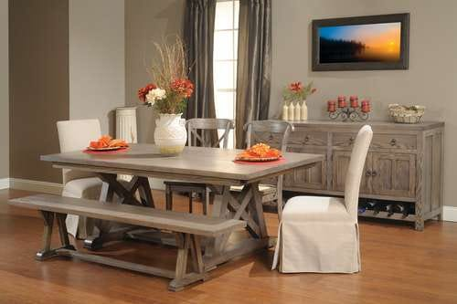 Look for classic design in dining room furniture.
