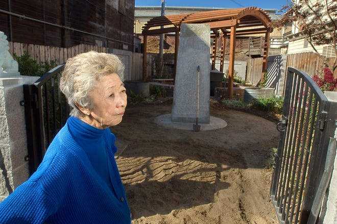Longtime Locke resident Connie King worked for 40 years to get a monument to the Chinese laborers who helped build the Delta's levees; it finally was dedicated in 2007 in the town's Locke Community Garden.