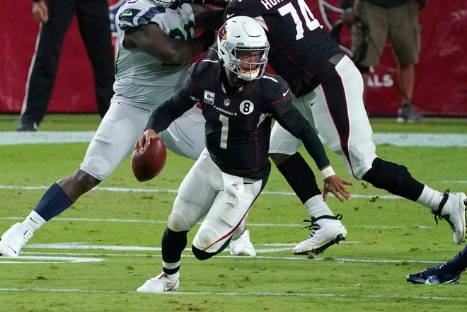 Quarterback Kyler Murray leads the Arizona Cardinals against the Carolina Panthers on Thursday night.