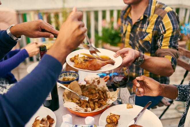 The Centers for Disease Control and Prevention considers hosting people for a small outdoor dinner as moderately risky, as compared to low-risk activities like a virtual Thanksgiving or a dinner with only people who live in your household.