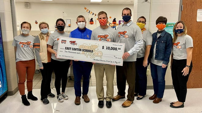 East Canton Schools received a grant and virtual visit from the Cleveland Browns.