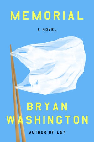 """This cover image released by Riverhead Books shows """"Memorial,"""" a novel by Bryan Washington."""