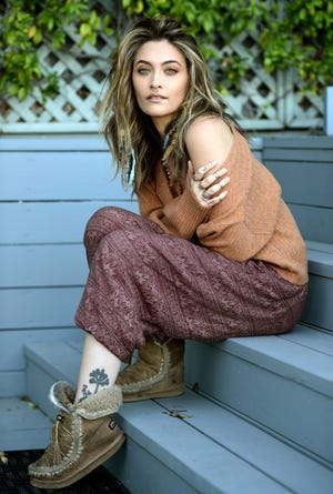 """Paris Jackson poses for a portrait in Beverly Hills, Calif., to promote her debut solo album """"Wilted,"""" releasing on Nov. 13. Her new single """"Let Down"""" dropped Friday."""