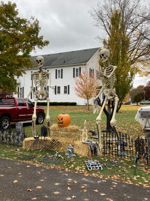 A spooky theme is going on at a house on E. Main Street in Gnadenhutten.