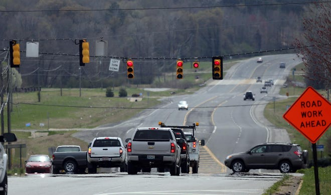 Work to install safety measures at the intersection of Mitt Lary Road and U.S. Highway 43 North is set to begin Monday. [Staff file photo/Dusty Compton]