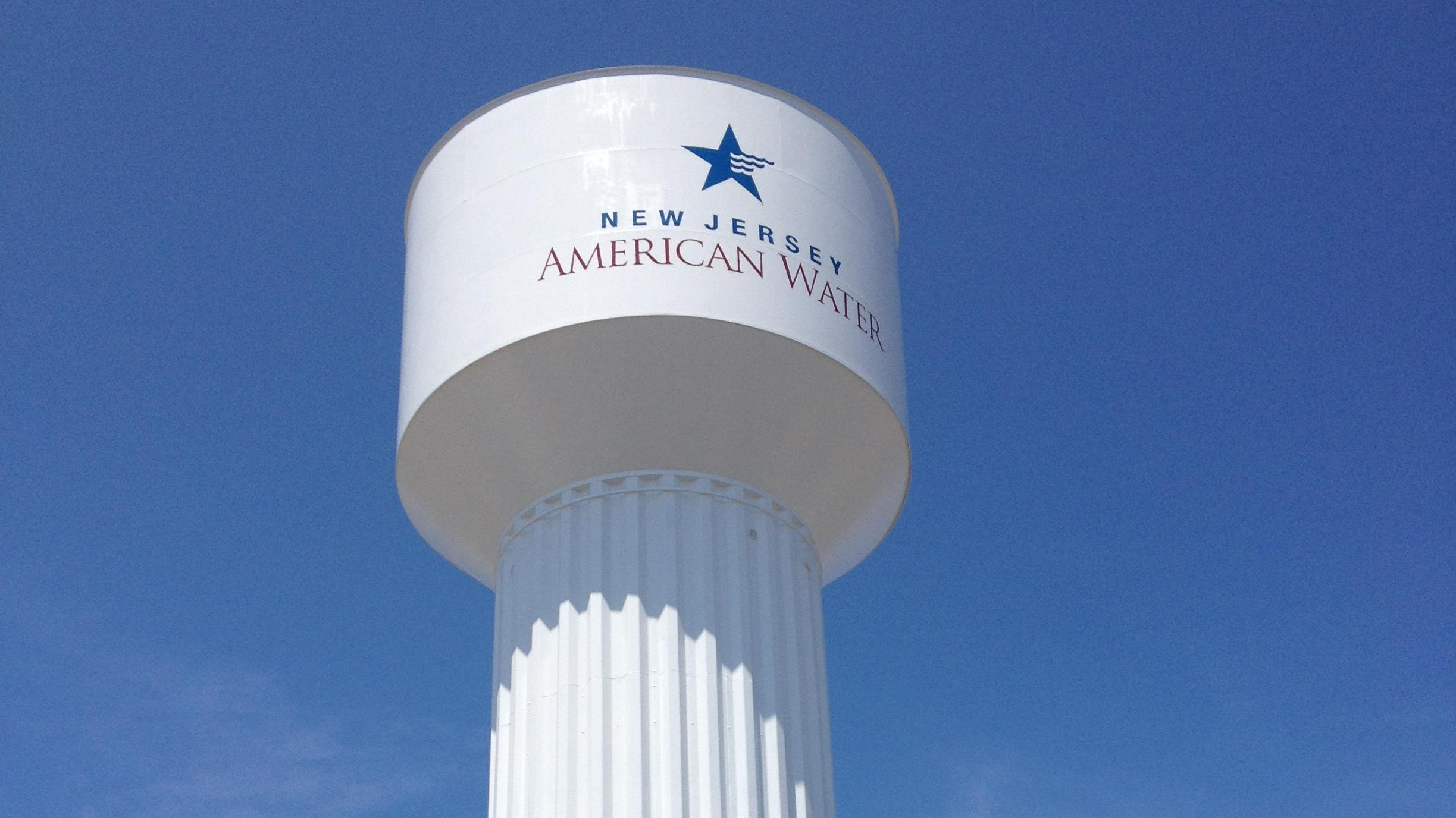A New Jersey American Water Co. water tower in Toms River.