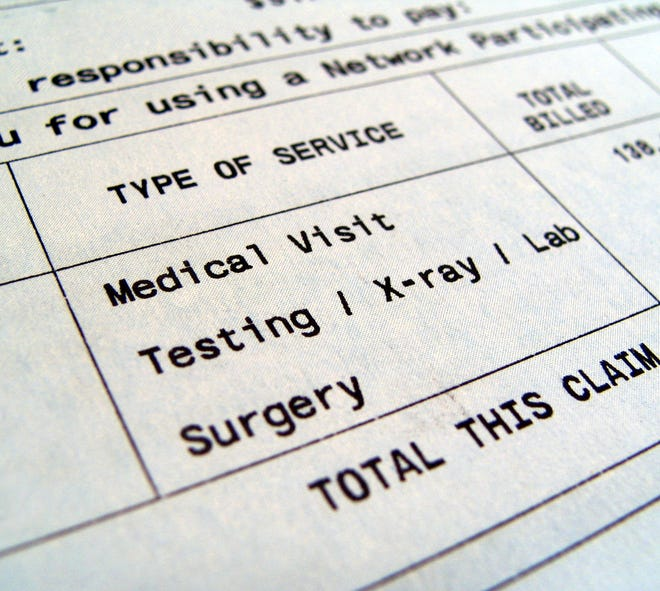 Medical Bill includes testing/x-ray/lab/surgery.