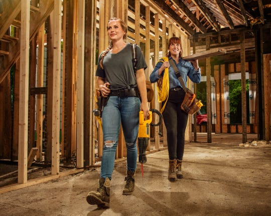 """Mother-daughter duo Karen Laine, right, and Mina Starsiak Hawk star in HGTV's """"Good Bones,"""" which follows them as they renovate homes in the Indianapolis area."""