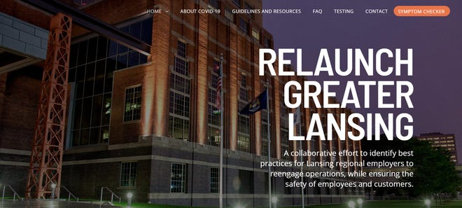 The homepage for RelaunchGreaterLansing.com.