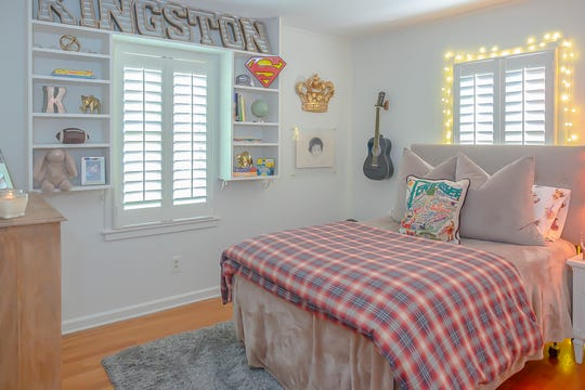 Kingston's bedroom is stylish and fun.