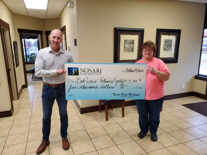 Sew Unique of Mountain Home held a fundraiser on Sept. 19 for the Bob Davis Veterans Center, raising a total of $20,688 for the center. Donations were collected from both individuals and businesses, with Nosari Home Mortgage donating $5,000 to helping push the fundraiser over its goal.