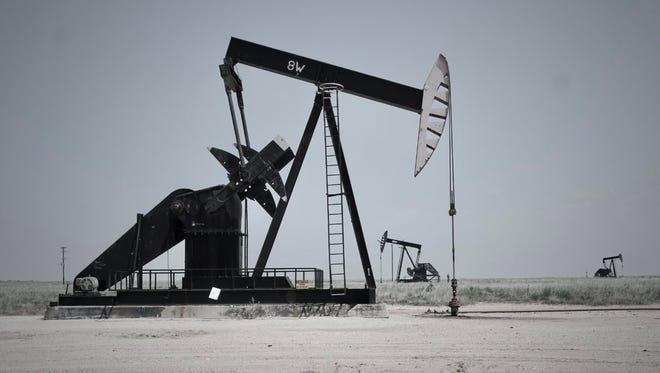 Oil and gas infrastructure on New Mexico's eastern plains.