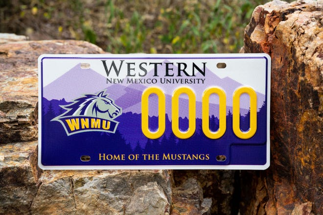 The new Western New Mexico University collegiate plate design was selected through an online vote.