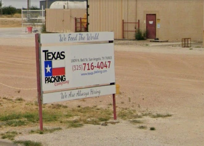Texas Packing Company sign.