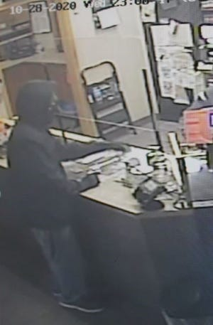 Armed robbery suspect in Brookings.
