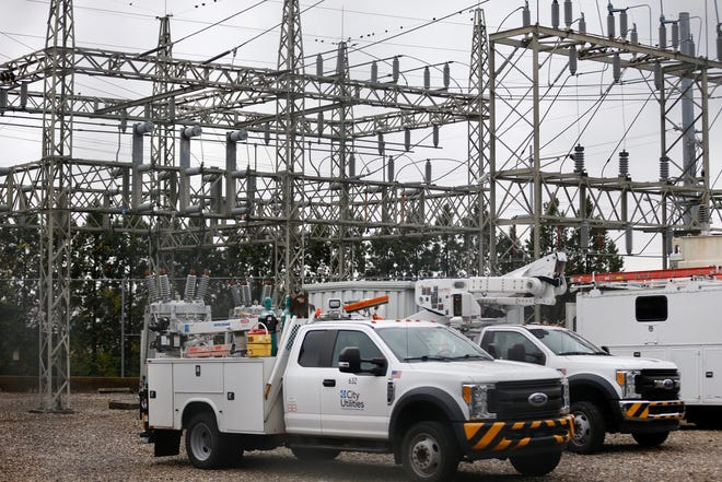 The City Utilities substation located near Battlefield and Glenstone was the site of an accident Thursday in which a worker was injured.