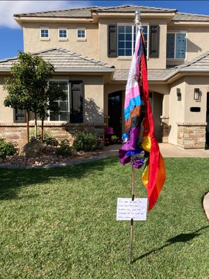 Stacie Gibbons recently discovered the Pride Flag in her front yard had been burned by vandals. Some St. George residents feel there's been an increase in political vandalization cases this election season.