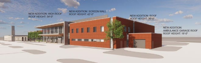 The proposed expansion of Marshfield Clinic Stevens Point Center.