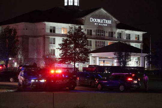 A shooting involving the Drug Enforcement Administration took place at the DoubleTree hotel in Nanuet on Oct. 28, 2020.