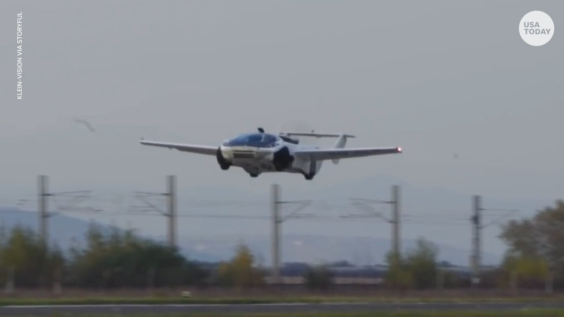 Flying car transforms from land to air vehicle in less than 3 minutes, company says