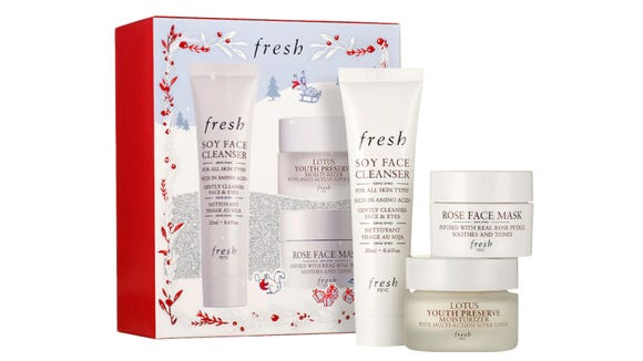 Best skincare gifts for beauty lovers: Fresh Cleanse, Mask, Moisturize Set