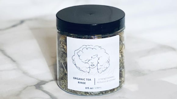 This tea rinse has awesome ratings on Etsy.