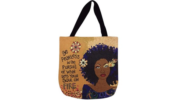 These tote bags are totally unique.