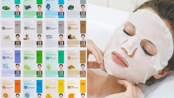 Best skincare gifts for beauty lovers: Dermal Korea Collagen Essence Facial Mask Sheet (16 pack)