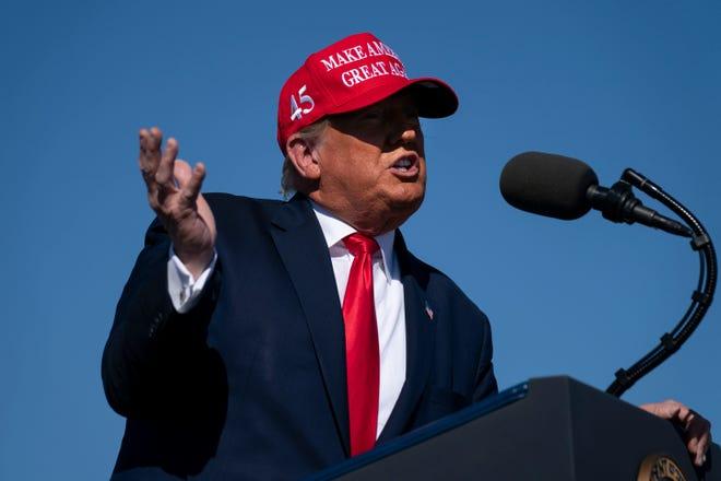 President Donald Trump on Oct. 28, 2020, in Bullhead City, Arizona.
