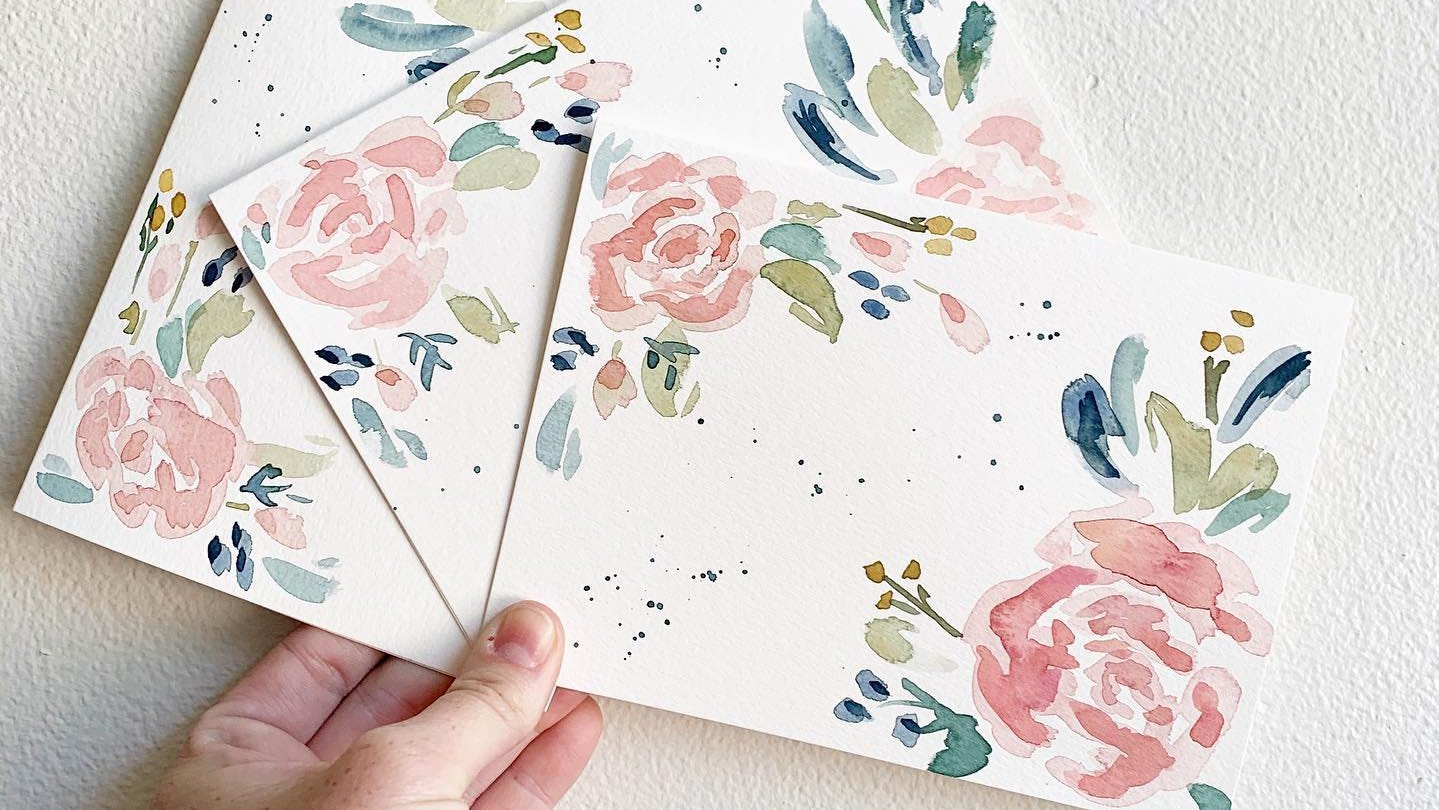 Lauren Dowie & Co.'s watercolor prints and cards are some of the products featured at The Local Supply Co. in Huxley.