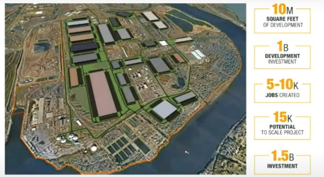 The redevelopment inside the Keystone Industrial Port Complex could expand to 15 million square feet at an investment cost of $1.5 billion — making it the largest e-commerce, logistics and multi-model industrial project on the East Coast.