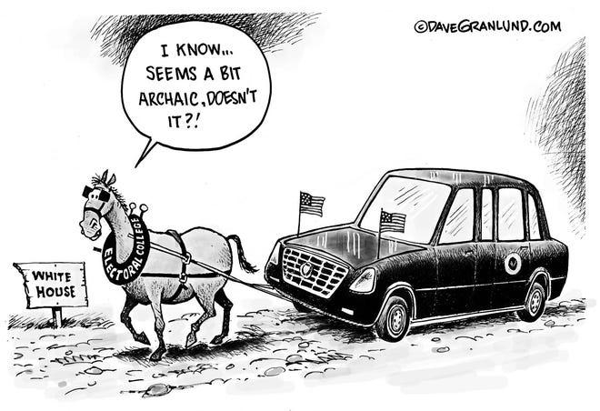 Granlund cartoon: Archaic Electoral College