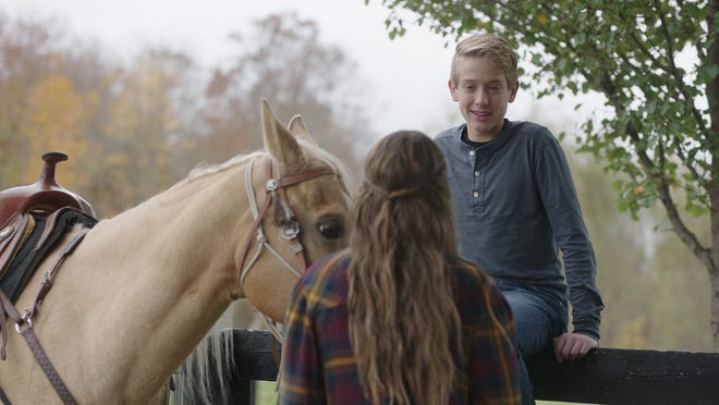 "Jake Satow, 14, plays a boy named Jason in the film ""Adeline."" Jason befriends a horse named Adeline, who helps him through difficult times."