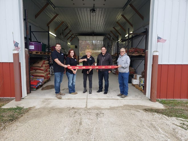 The Cambridge Area Chamber of Commerce hosted a ribbon-cutting ceremonyrecently to announce the grand opening for M&M Feed and Supply's new location at 95 Wildflower Road, New Concord.