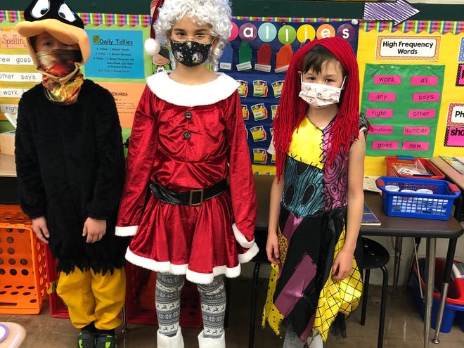 Shreve Elementary School students dressed up in costumes Friday.