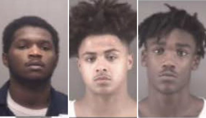 From left to right: Tion Demond Brown, Cody Lee Harden and Ryan Shymeek Mumford.