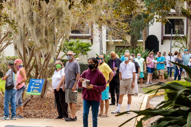 The early voting location at the Ormond Beach Library was crowded most days as residents look to cast their ballots ahead of Election Day on Tuesday.