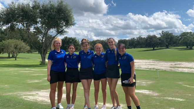 The Matanzas HIgh School girls golf team, left to right: Alexandra Gazzoli, Cadence Lasher, McKelvy Dietz, Emma Markese, Katherine Bentley and Betsy Baker.