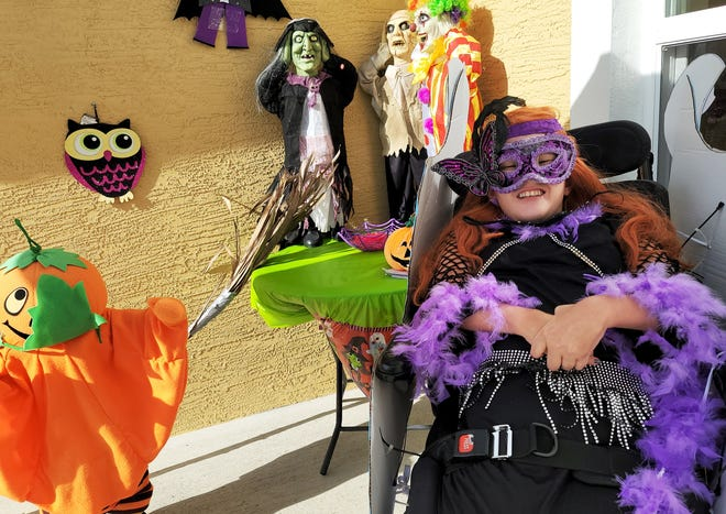 Linda Nunez, who is confined to a wheelchair, enjoys dressing up like a princess for Halloween.