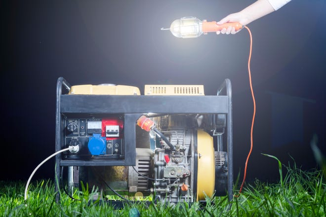 Be careful if using a portable backup generator when your electrical power goes out.