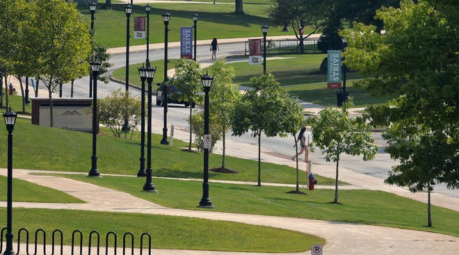 The Edinboro University campus is shown in this Sept. 9 photo.