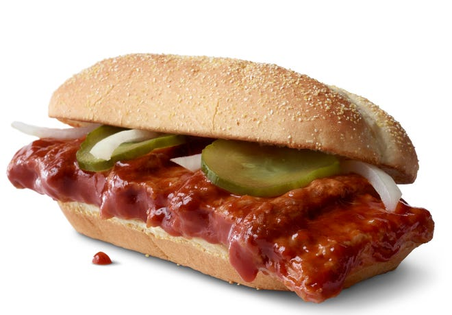 McDonald's announced that it was bringing its barbecue slathered sandwich with the cult following back for yet another run on Dec. 2. The fast-food giant said the sandwich would be available nationally for the first time since 2012, but only at participating restaurants for a limited time.
