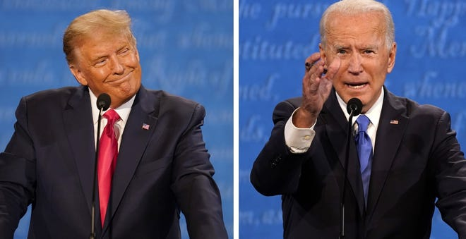D-Day in the presidential election between, from left, President Donald Trump and former Vice President Joe Biden is Tuesday.