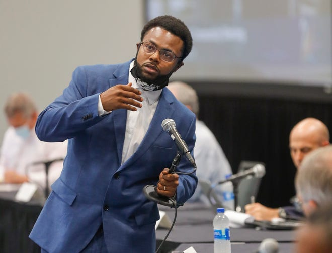 Jarvis Washington, president of Black Lives Matter Restoration Polk, asked the commission to consider trying to bring training in technical trades back into Polk's public schools.