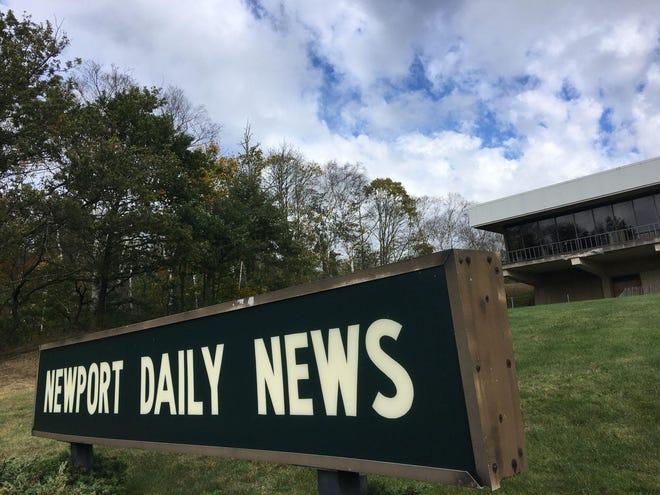 The Newport Daily News sign at 101 Malbone Road.