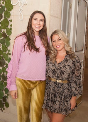 Taylor Materio, right, shown at a Sept. 19, 2019 event with Kristen Davis, is chairwoman of the Palm Beach Chamber of Commerce's Young Professionals Committee.