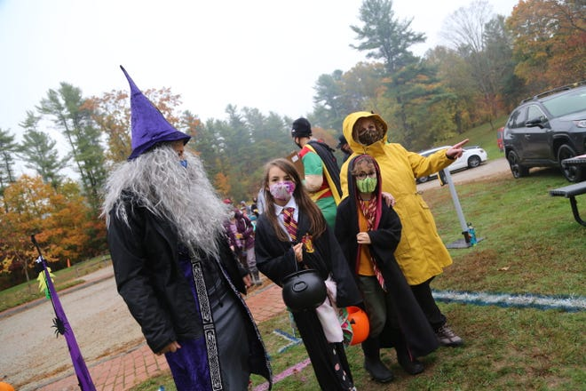 Despite damp weather, more than 100 families took part in the York Park & Recreation Department's Trail Trick-or-Treat event Wednesday, Oct. 28, 2020, on the trails at Goodrich Park.