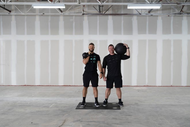 Zachery Eggen and Josh Werner, co-owners of a gym franchise called MADabolic, are set to open in the first quarter of 2021 on Indiantown Road.