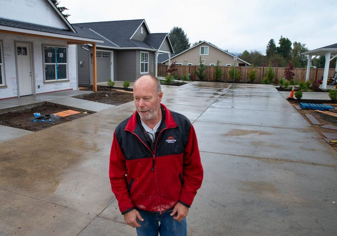 Dennis Covert, owner of Covert Enterprises Inc., is putting the finishing touches on a seven-home development on Jasper Road in Springfield.